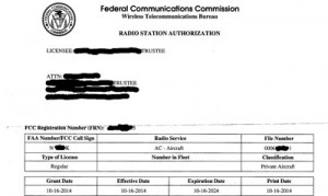 FAA Aircraft Registry|Radio Station License