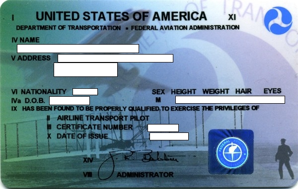 FAA N-Registered aircraft with American Pilots license